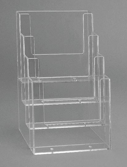 Présentoirs transparents 4 compartiments