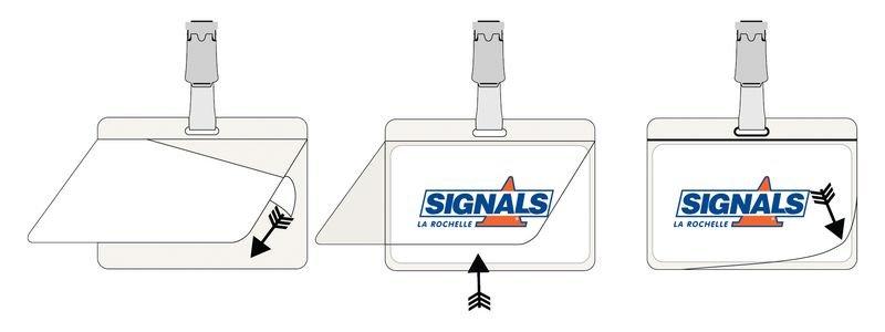 25 Badges autoplastifiables avec clip - Signals