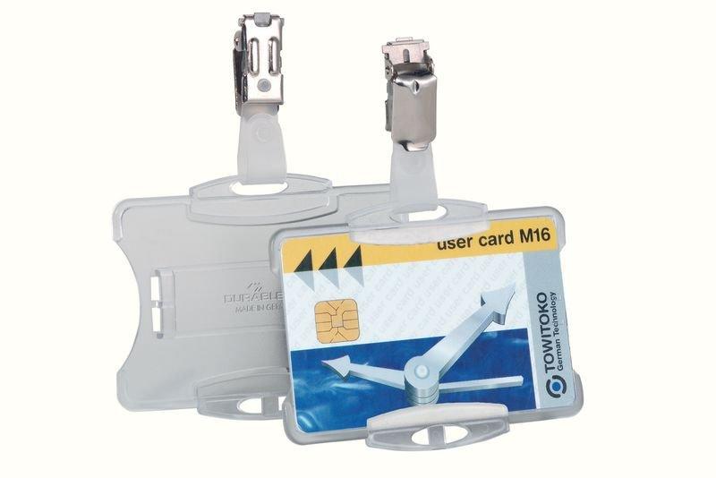 25 porte-cartes de sécurité clipsables