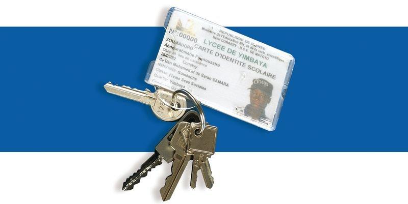 25 étuis en polycarbonate pour carte porte-clés
