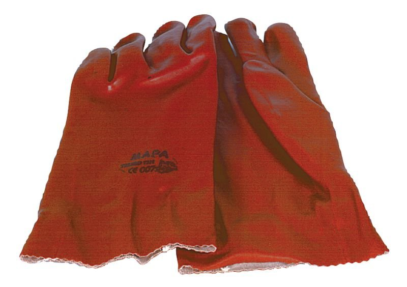 Gants à enduction PVC pour hydrocarbures L.27 cm