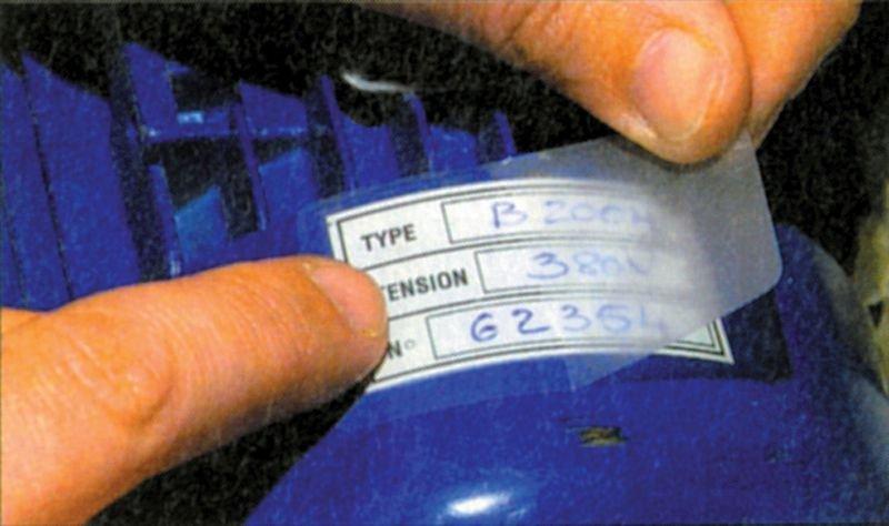 Etiquettes de protection en polyester en rouleau