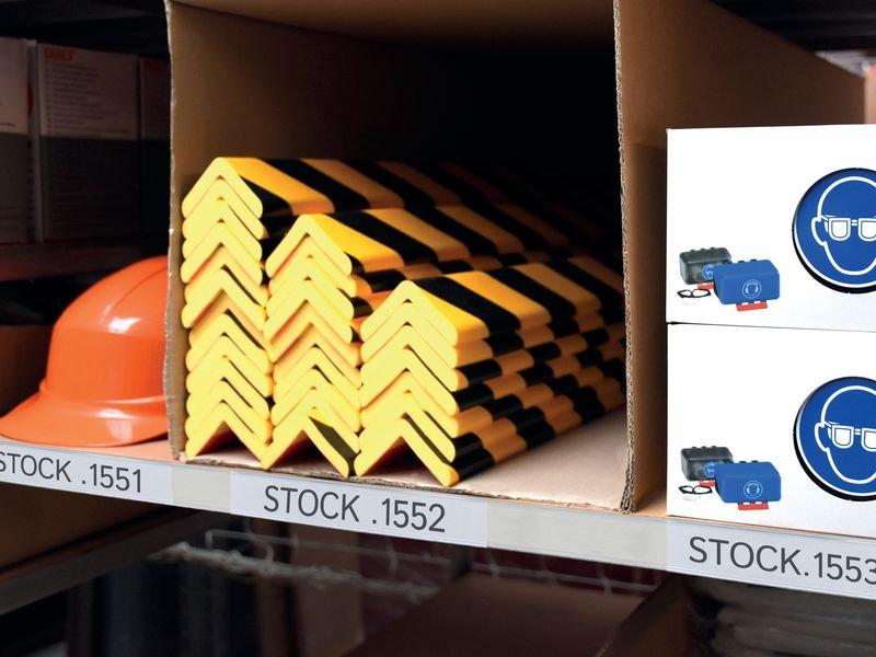 Porte-étiquettes adhésifs en bande pour rayonnages