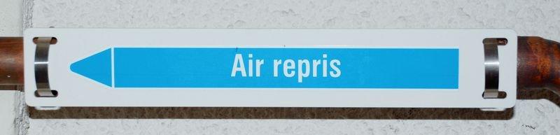 Support de marqueurs de tuyauterie semi rigide