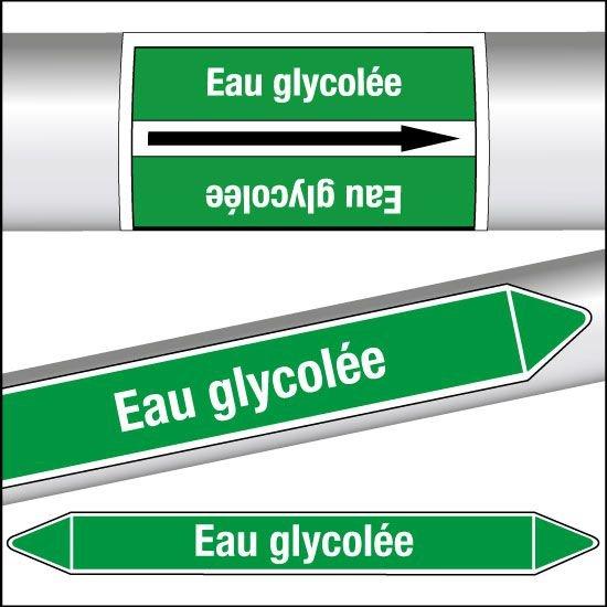 Marqueurs de tuyauterie CLP Eau glycolée