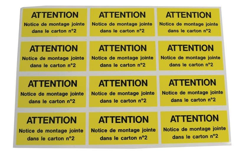 Etiquettes en vinyle haute résistance message