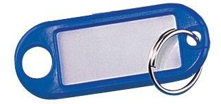 Porte-clés colorés Eco avec étiquette blanche