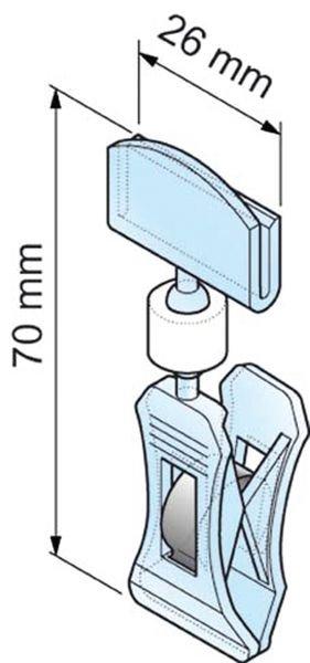 Pince porte-étiquettes translucide - Signals