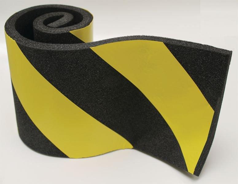 Protection en mousse conformable jaune et noir - Amortisseurs de chocs