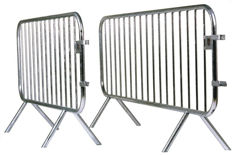 Barrière amovible de protection en galva 14 barreaux