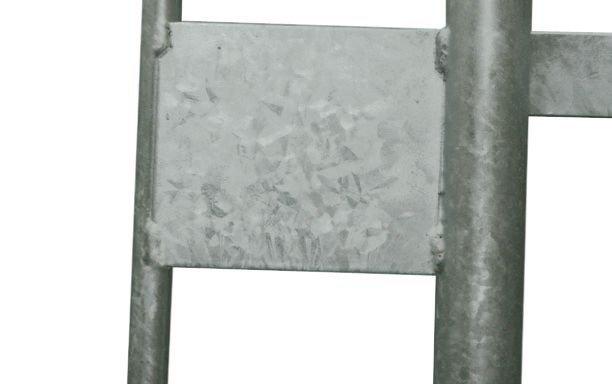 Barrière amovible de protection en galva 18 barreaux - Barrières amovibles