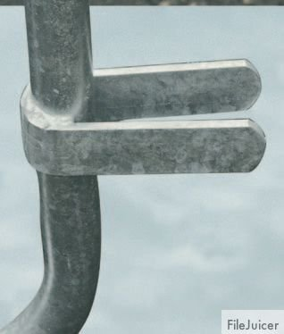 Barrière amovible de protection en galva 18 barreaux - Balisage de sécurité