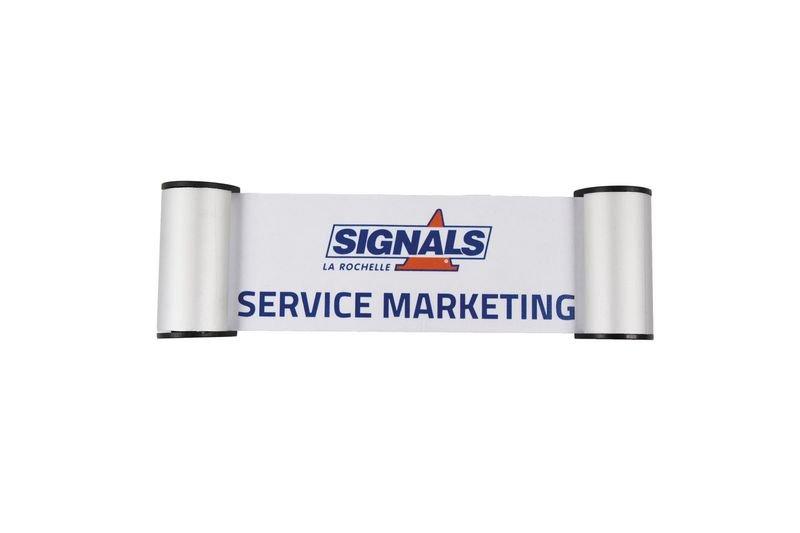 Signalétique type clic clac en aluminium/plexiglas