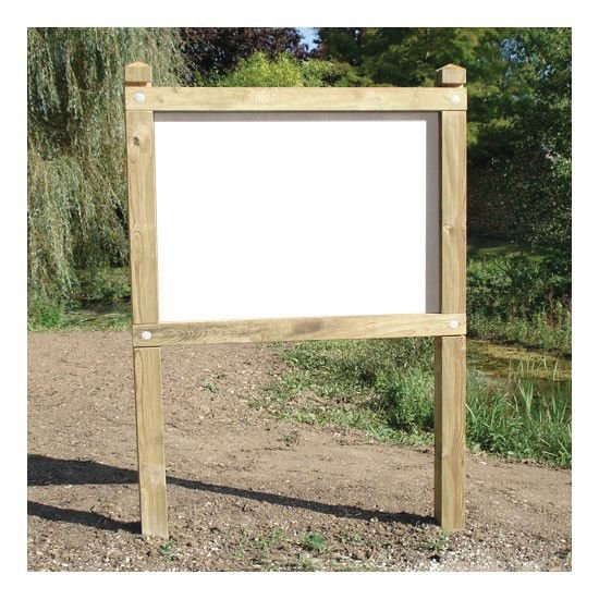 Planimètre bois avec panneau PVC pour affichage