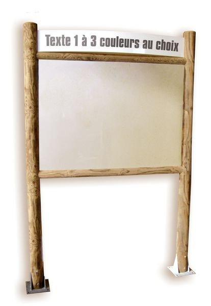 Planimètre bois bandeau à personnaliser et panneau PVC