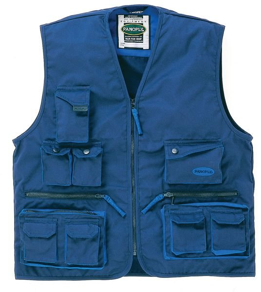 Gilets de travail multi-poches fermeture zip