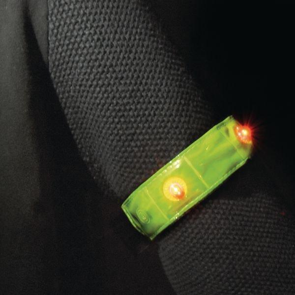 Brassard de sécurité PVC rétro à LED - Brassards