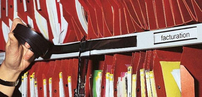 Porte-étiquettes magnétiques en bande 1 m