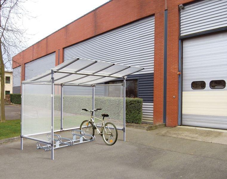 Abri vélos 5 vélos en aluminium autostable