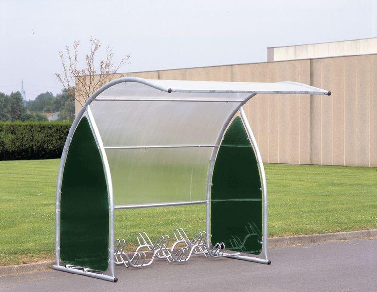 Abri vélos motos avec toit en polycarbonate