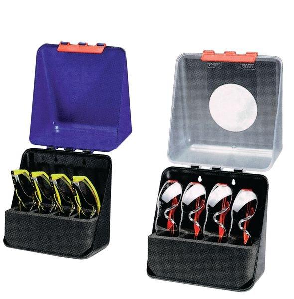 Boîte 4 casiers pour lunettes fixation murale