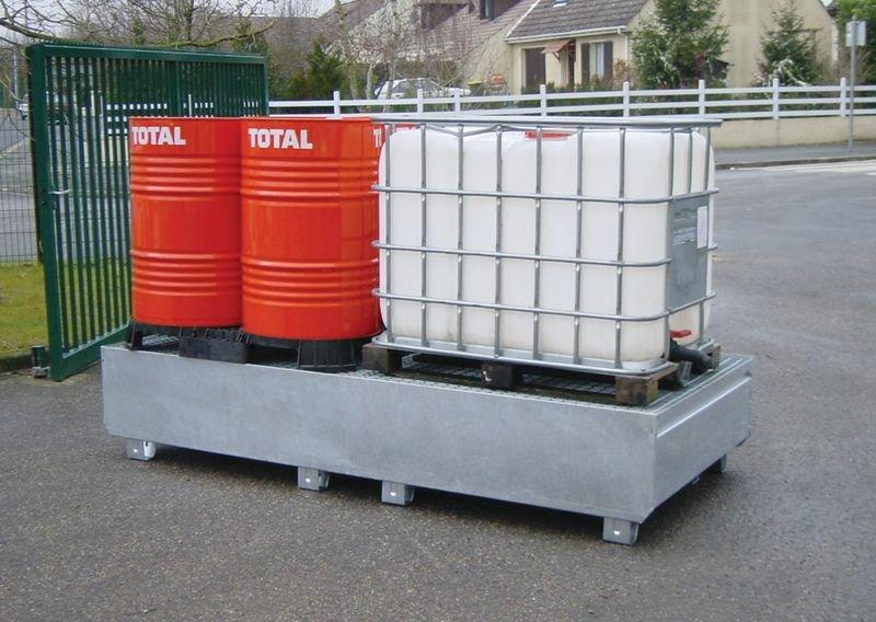 Bacs de rétention métalliques pour charges lourdes