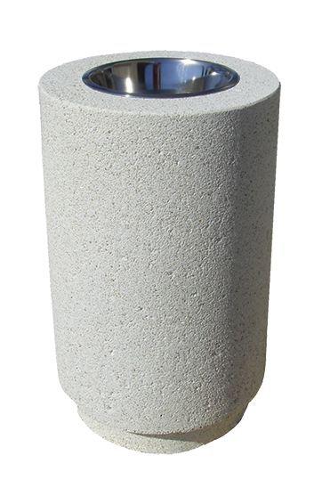 Corbeille/cendrier en béton Fontenay