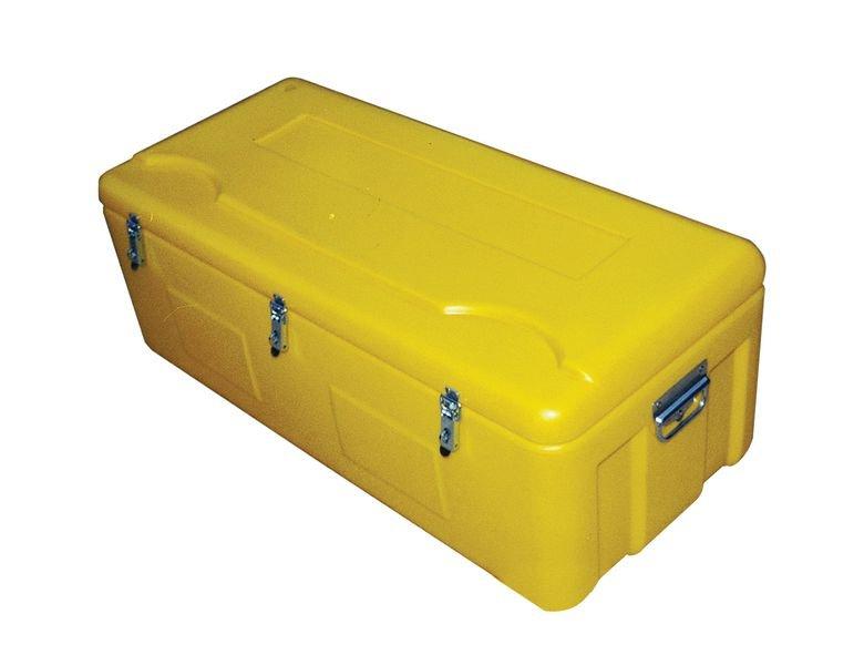 Coffres jaunes résistants en polyéthylène