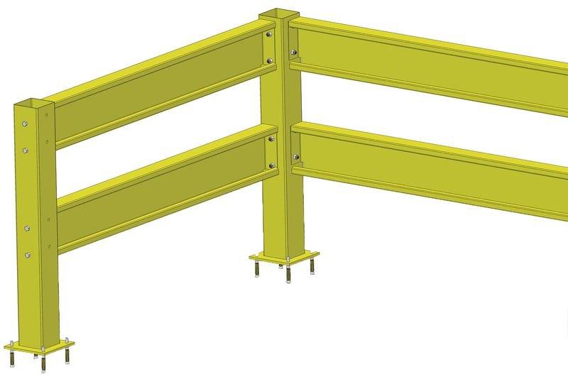 Poteaux pour rails de sécurité