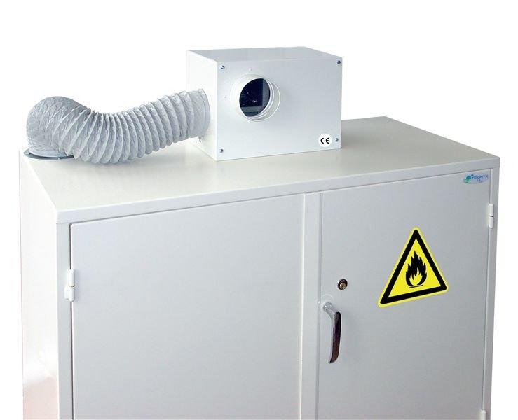 Caisson de ventilation pour armoires de sécurité