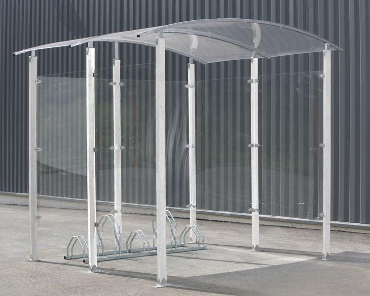 Abri vélos 4,4 m² acier ou bois