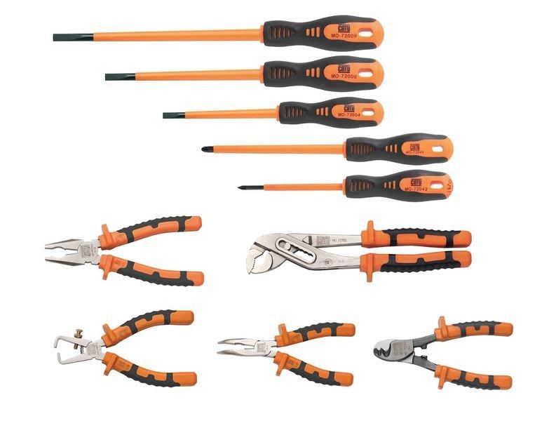Jeu 10 outils isolés bi-matière