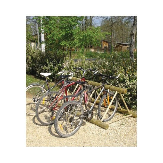 Range-vélos au sol bois 6 vélos face à face - Signals