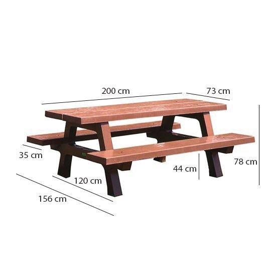 Table Pique-Nique Armelle Béton Ocre - Signals