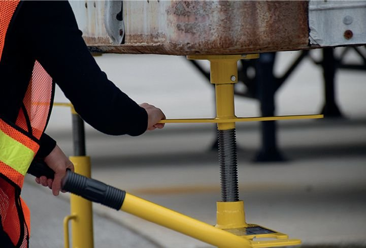 Béquille de sécurité double poteaux - Equipement entrepôt