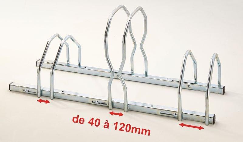 Range-vélos réglable pour pneus larges - Aménagements Extérieur