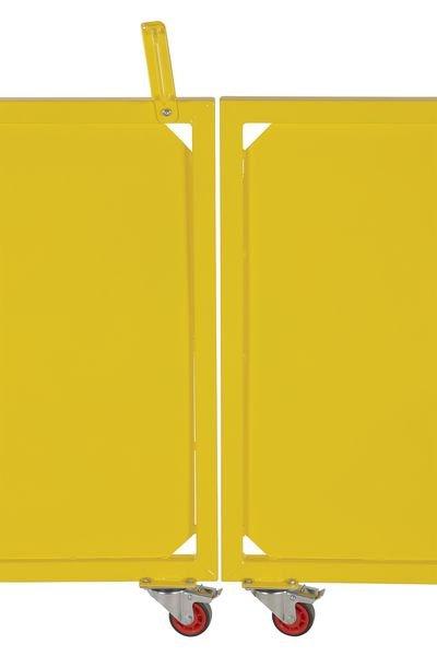 Portail battant en acier laqué jaune - Protection de rayonnage