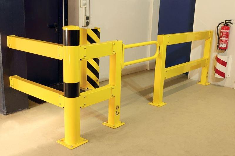 Porte battante pour barrière de protection TÜV - Protection de rayonnage