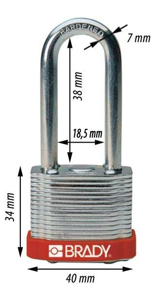 Cadenas en acier trempé Anse hauteur 38 ou 51 mm