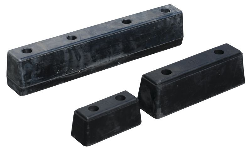 Butoirs pour camions et remorques en caoutchouc noir