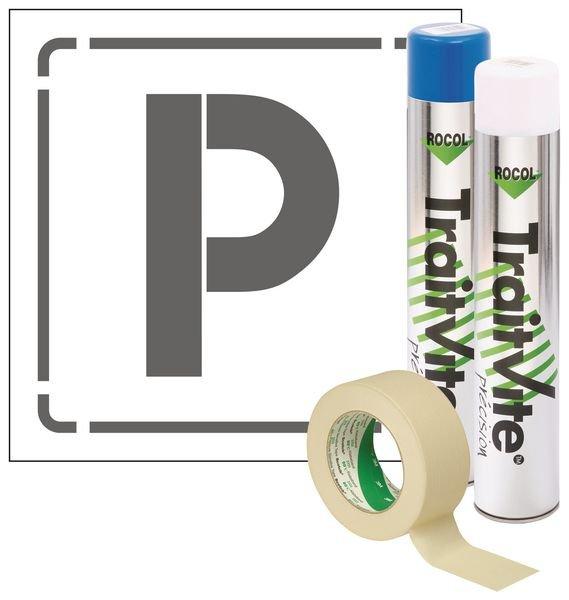 Kit Aérosols et Pochoir Parking