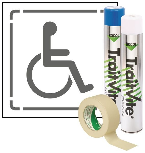 Kit Aérosols et Pochoir Handicapé