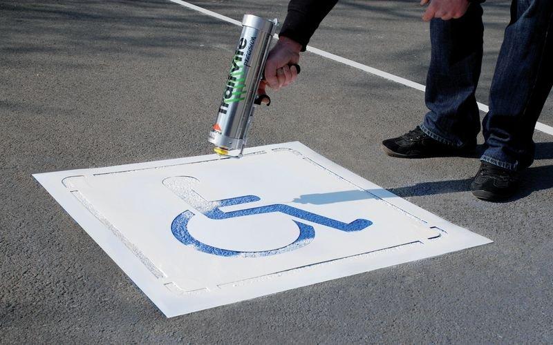 Kit Aérosols et Pochoir Handicapé - Signals