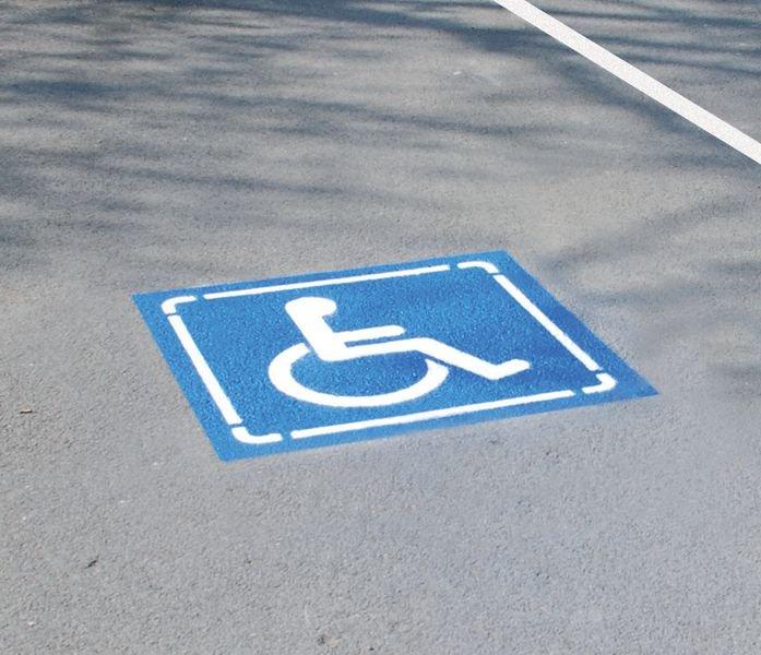 Kit Aérosols et Pochoir Handicapé - Marquage peinture au sol
