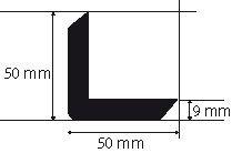 Protection d'angle caoutchouc 1 m de long - Amortisseurs mousse