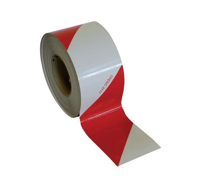 Rouleaux de balisage 100% rétro rouge et blanc Mural