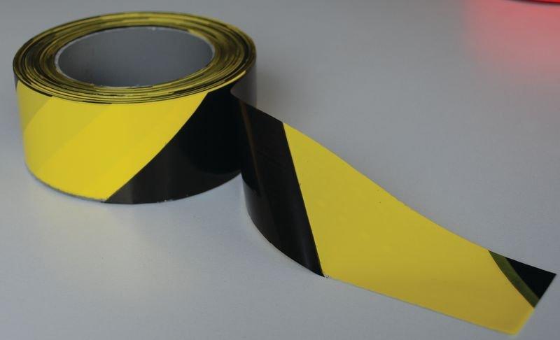 Rubans de signalisation éco jaune et noir indéchirable - Signals