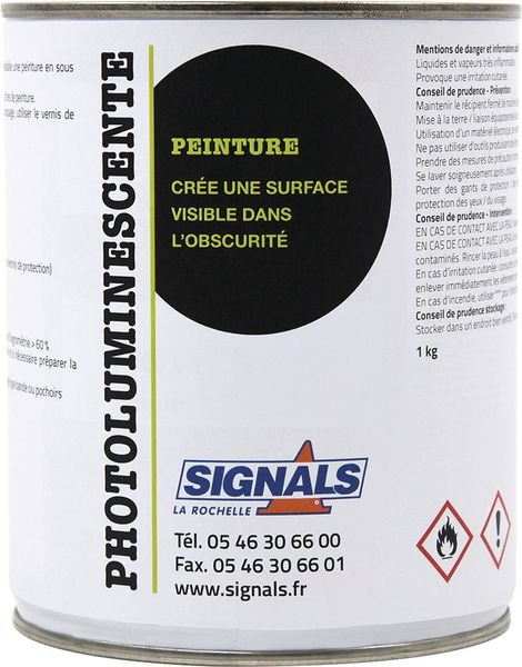 Peinture photoluminescente base solvant