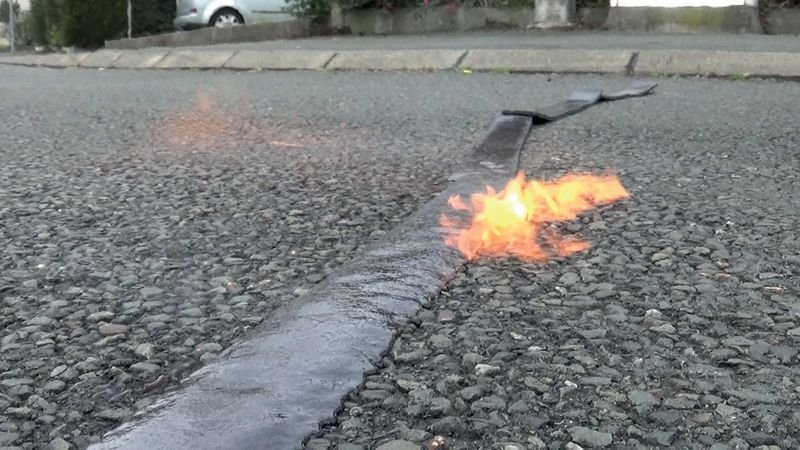 Rouleau en résine pour la réparation des fissures - Marquage peinture au sol