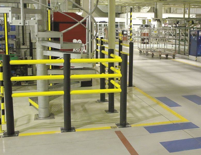 Barrière piétonne modulaire Certification TÜV - Protection de rayonnage